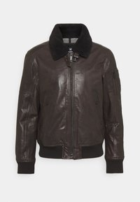 Strellson - ASTANO - Leather jacket - chocolate brown - 0