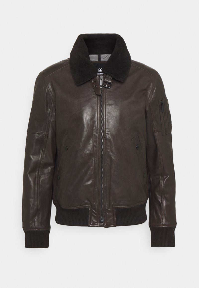Strellson - ASTANO - Leather jacket - chocolate brown