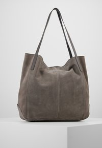 Anna Field - LEATHER - Tote bag - anthracite - 0