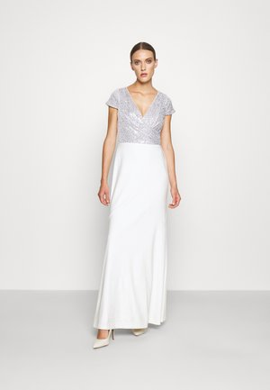 KRYSTAL CAP SLEEVE EVENING DRESS - Suknia balowa - white/silver
