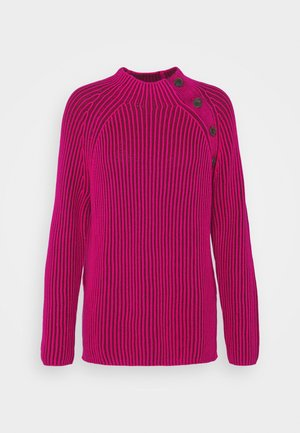 ASYM RAGALN MOCK  - Jumper - bright beet