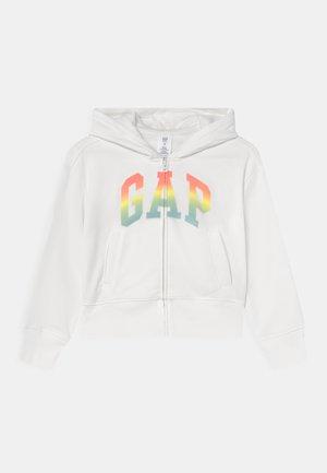 GIRLS WEDGE LOGO - Sweater met rits - new off white