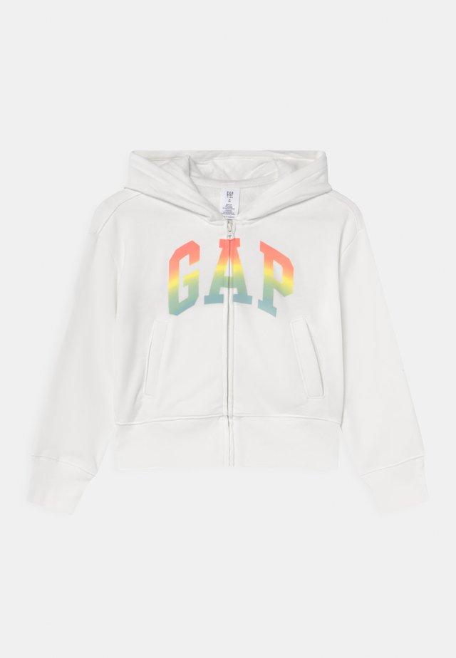 GIRLS WEDGE LOGO - Zip-up hoodie - new off white