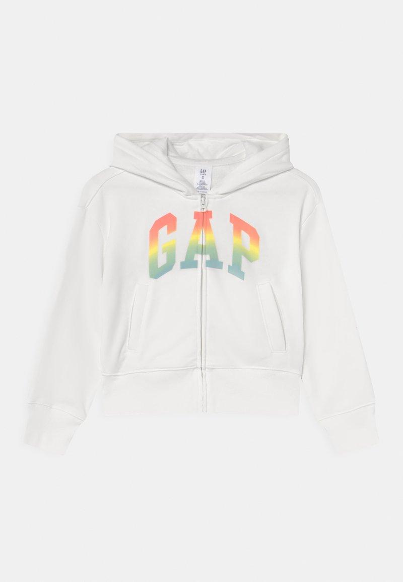 GAP - GIRLS WEDGE LOGO - Zip-up sweatshirt - new off white