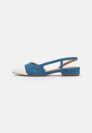 CORALLINA - Ballerina's met enkelbandjes - blue denim