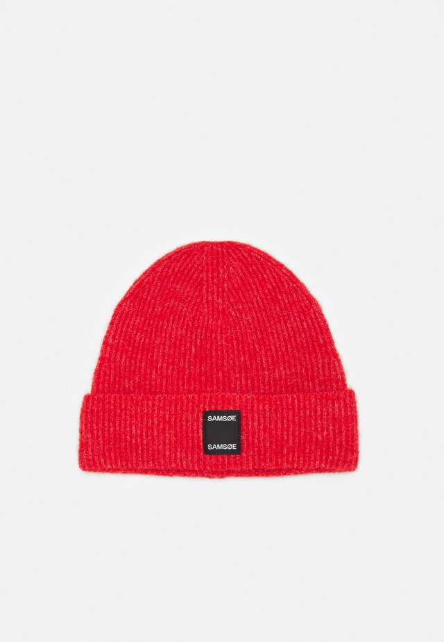 BERNICE HAT - Beanie - fiery red melange