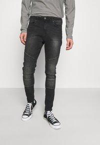 11 DEGREES - BIKER - Jeans Skinny Fit - washed black - 0