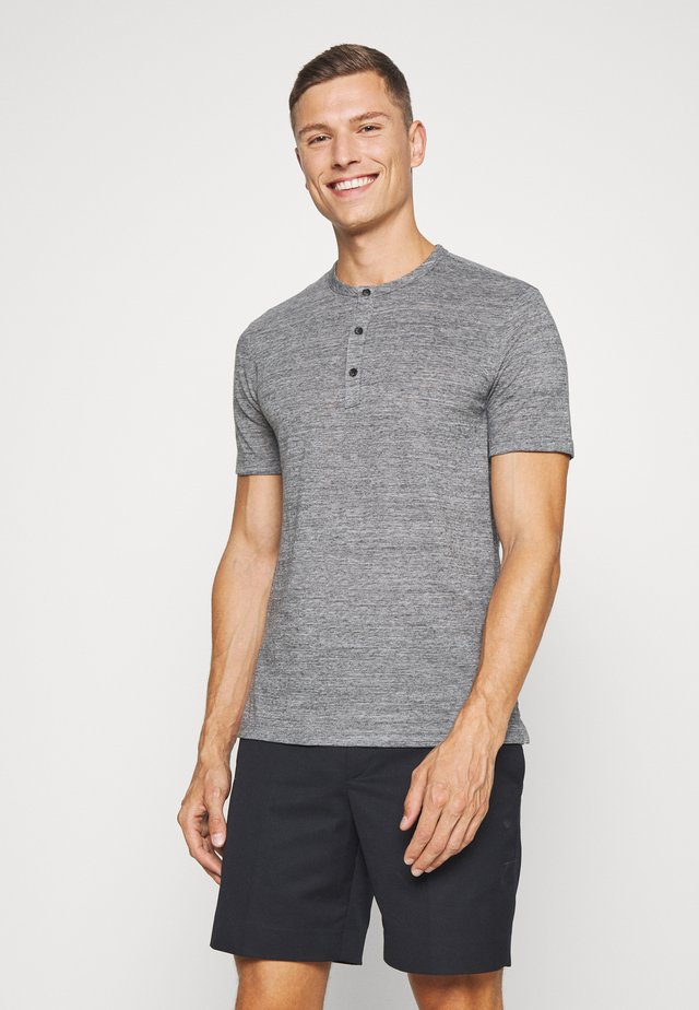 VINTAGE HENLEY - T-shirt basic - grey blue