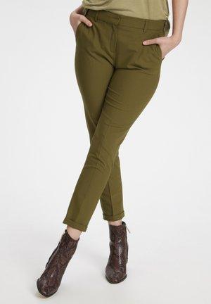 Spodnie materiałowe - military olive
