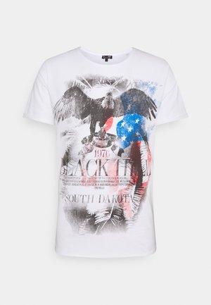 HILL ROUND - T-shirt imprimé - white