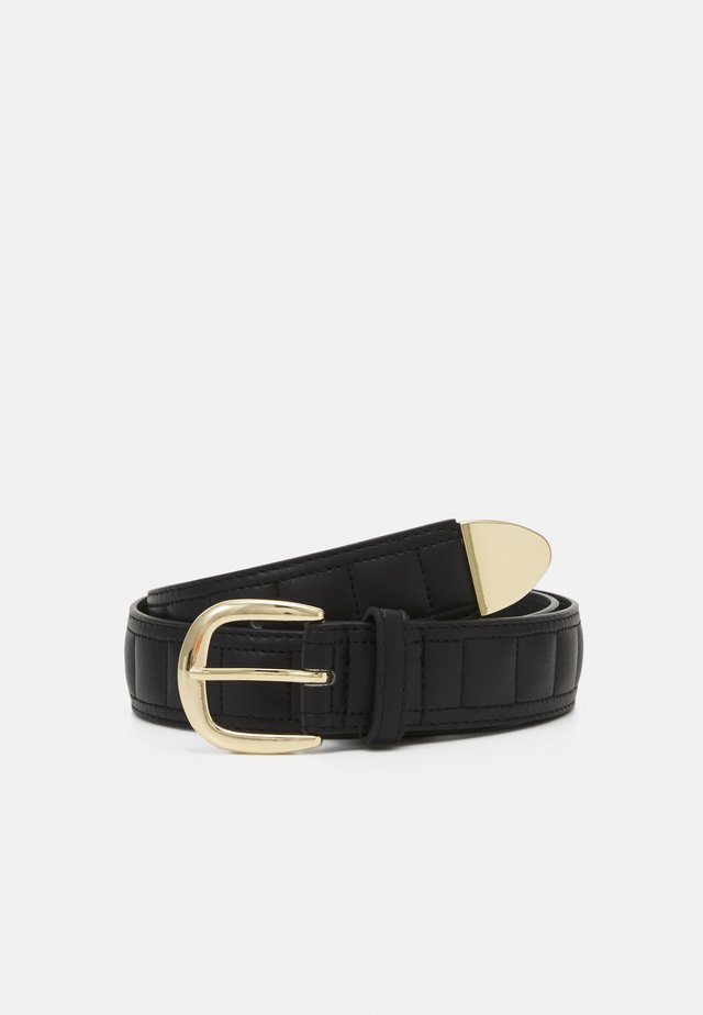 PCAFIMA BELT - Pasek - black/gold-coloured