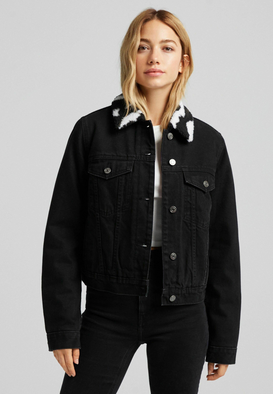 Femme MIT LAMMFELLIMITAT CROPPED - Veste en jean
