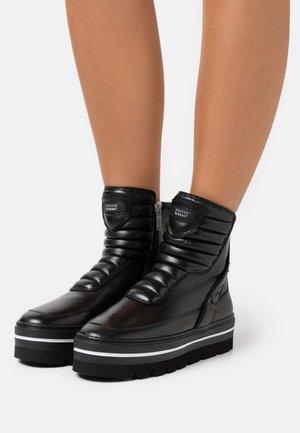 HILL STREET - Cowboy/biker ankle boot - black