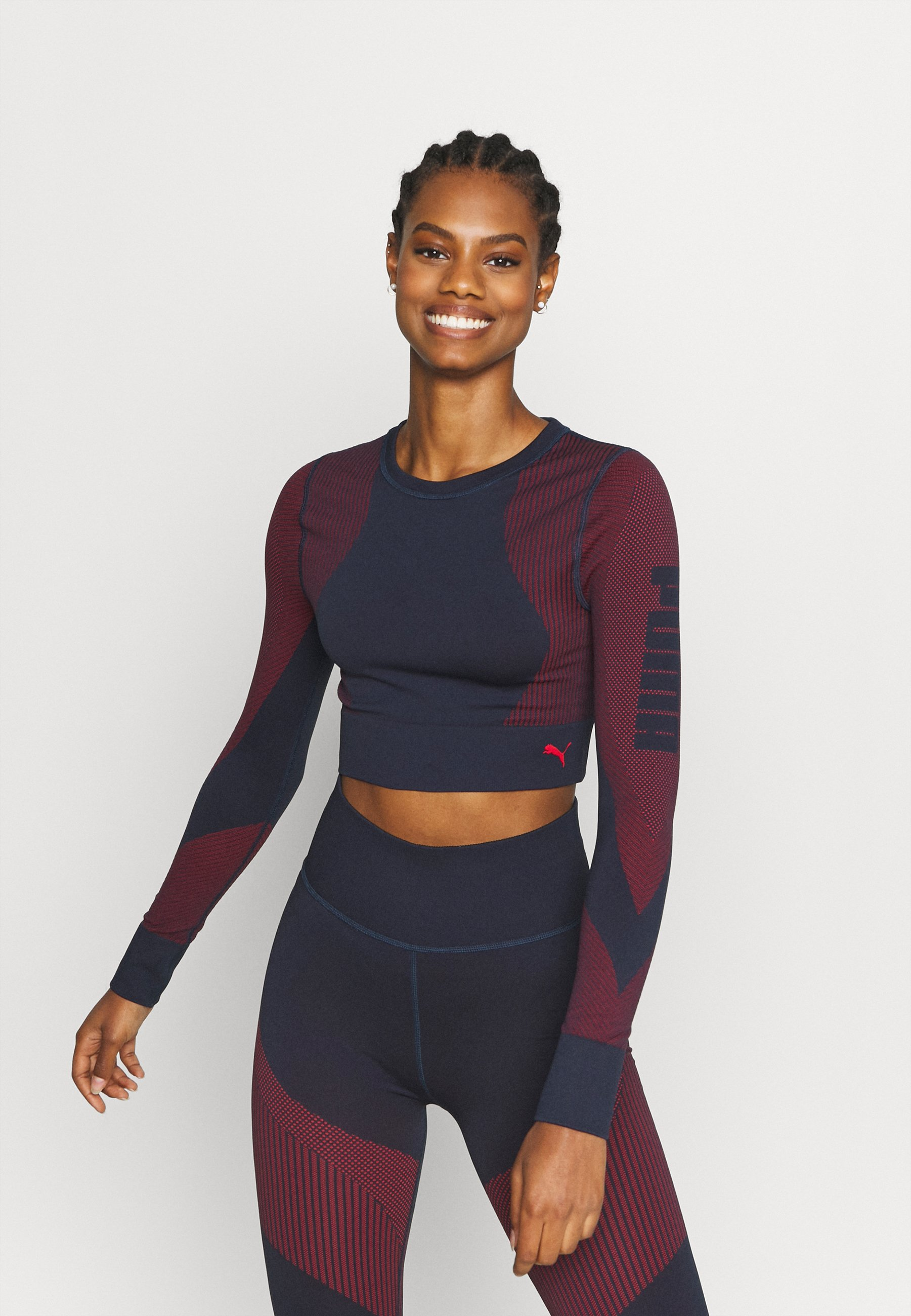 Femme TRAIN SEAMLESS FITTED LONG SLEEVE - T-shirt à manches longues