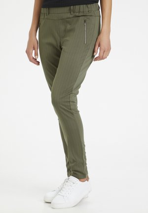 KAMARA VILJA - Trousers - grape leaf  - black stripe