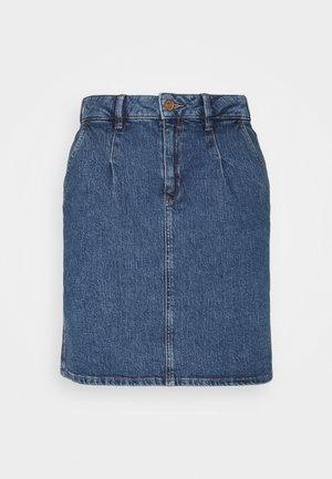 SKIRT - Mini skirt - blue medium wash