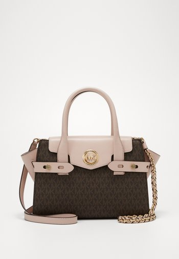 CARMEN FLAP SATCHEL SEMI LUX - Handbag - brown/softpink