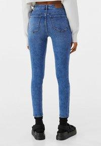 Bershka - SUPER HIGH WAIST - Jeans Skinny Fit - dark blue - 2
