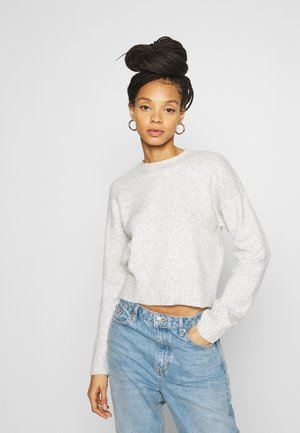 CROP - Strikpullover /Striktrøjer - light grey