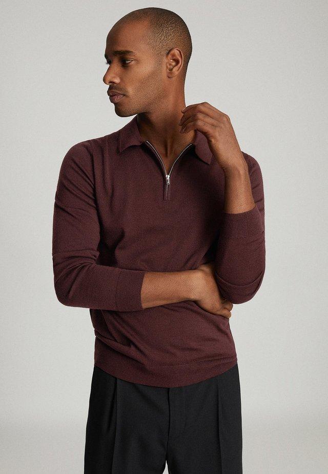 ROBERTSON - Poloshirt - dark red