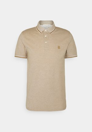 SLHTWIST  - Polo shirt - dull gold/twisted with egret