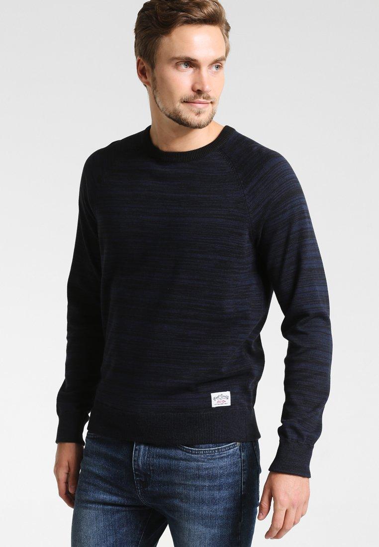 Pier One - Stickad tröja - mottled dark blue
