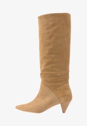 OPEN MIND HIGH - Boots - beige