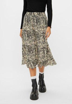 MIDIROCK PRINT - A-line skirt - fog