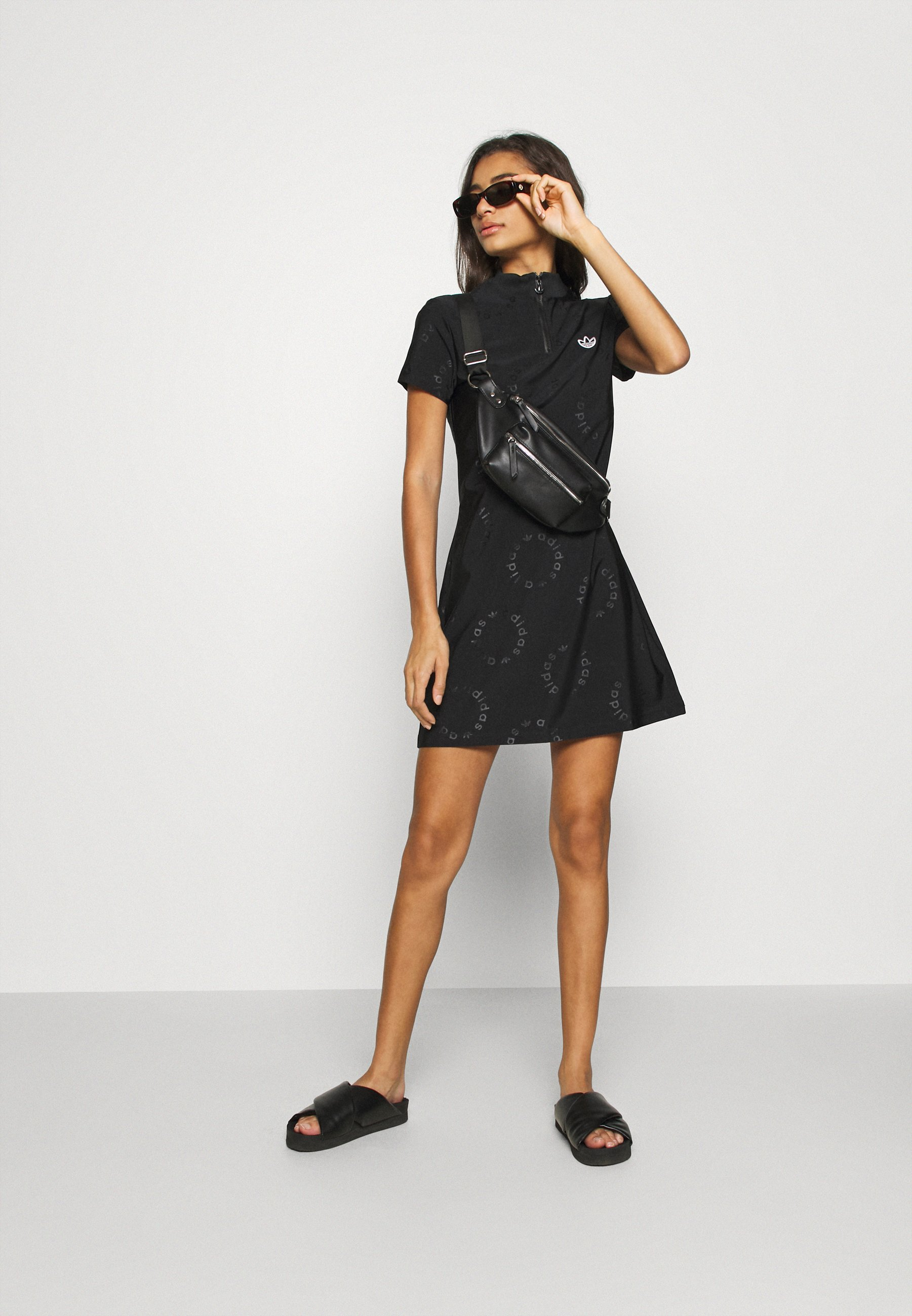 adidas Originals DRESS Jerseyklänning black Zalando.se