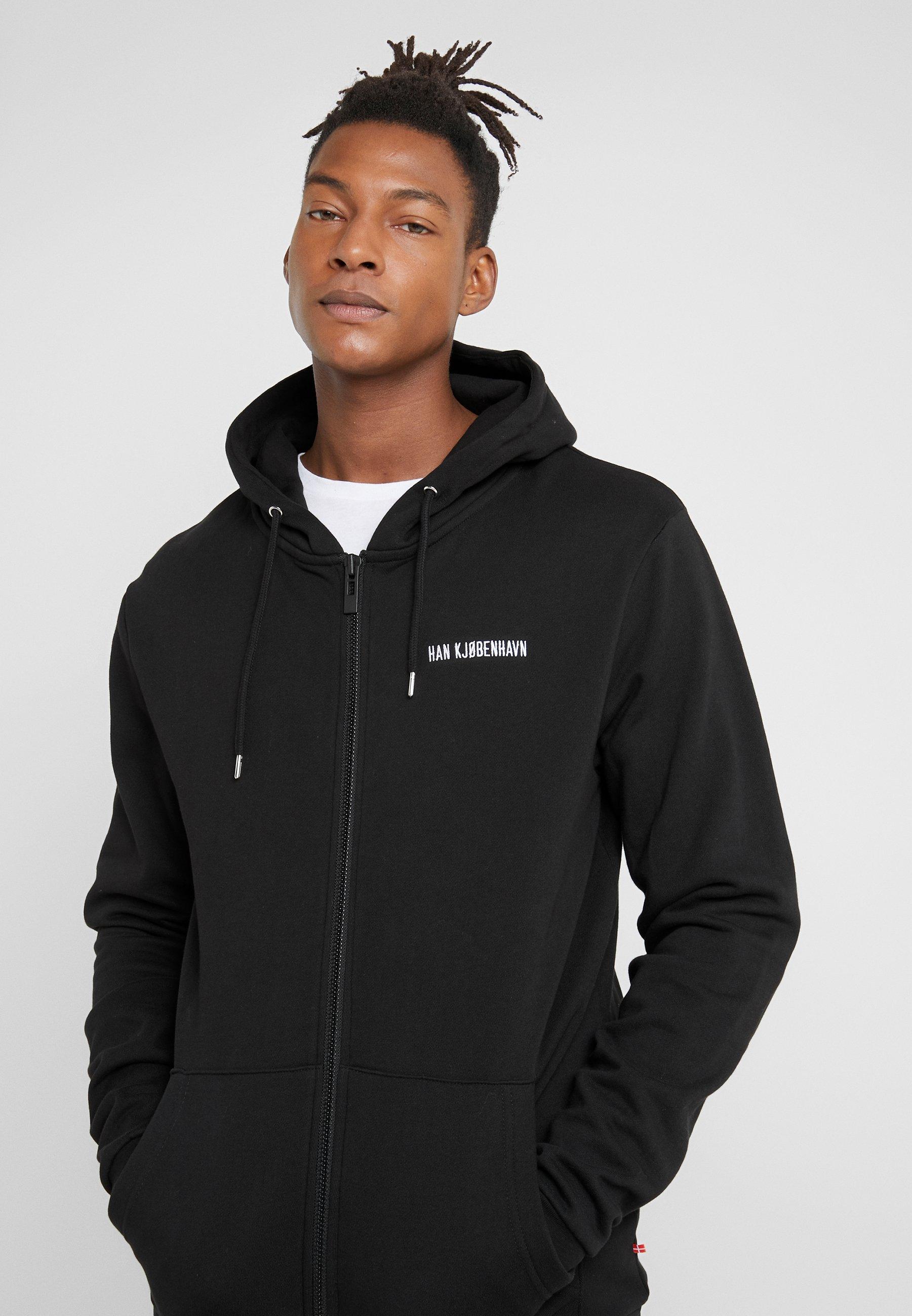 Men ZIP HOODIE - Zip-up sweatshirt - black
