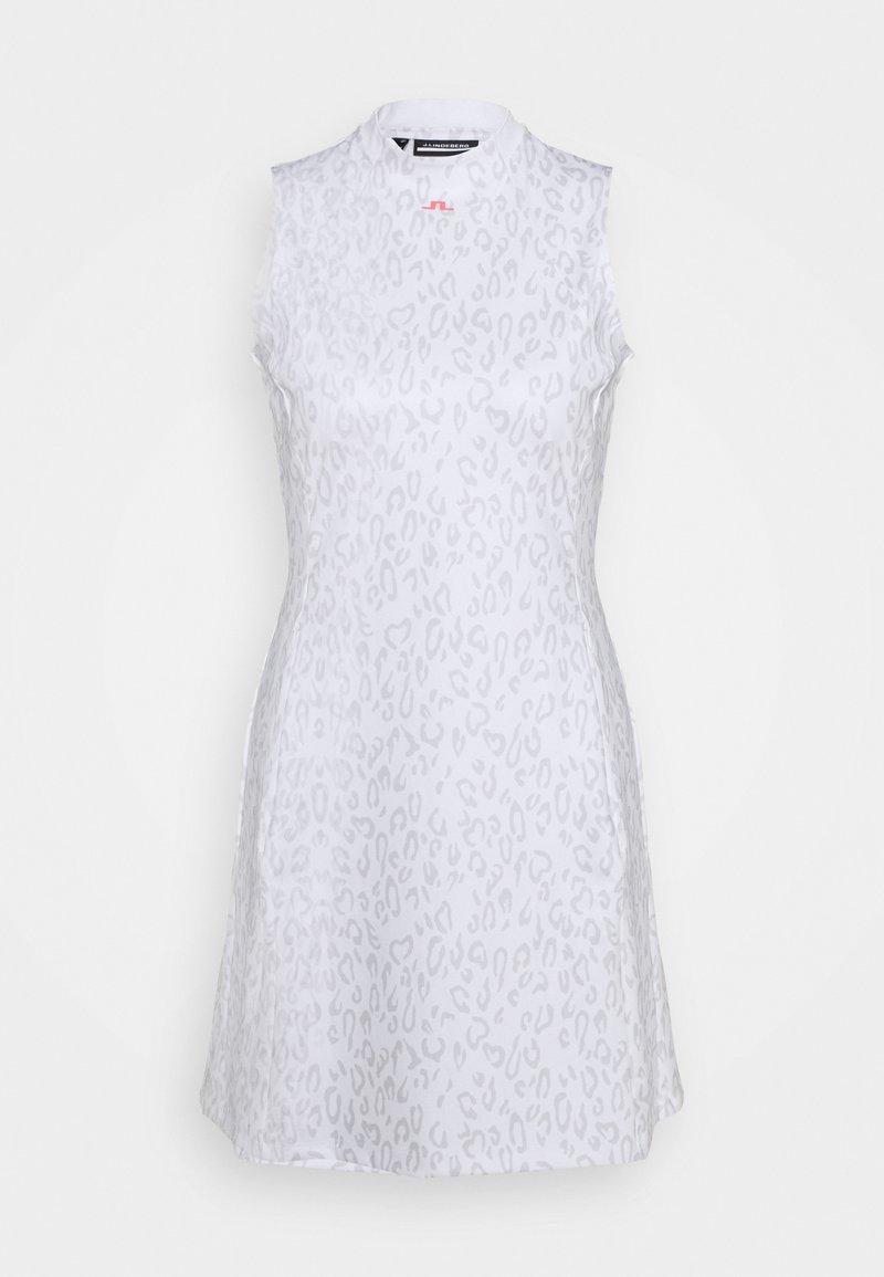 J.LINDEBERG - PRINT GOLF DRESS - Sports dress - grey/white