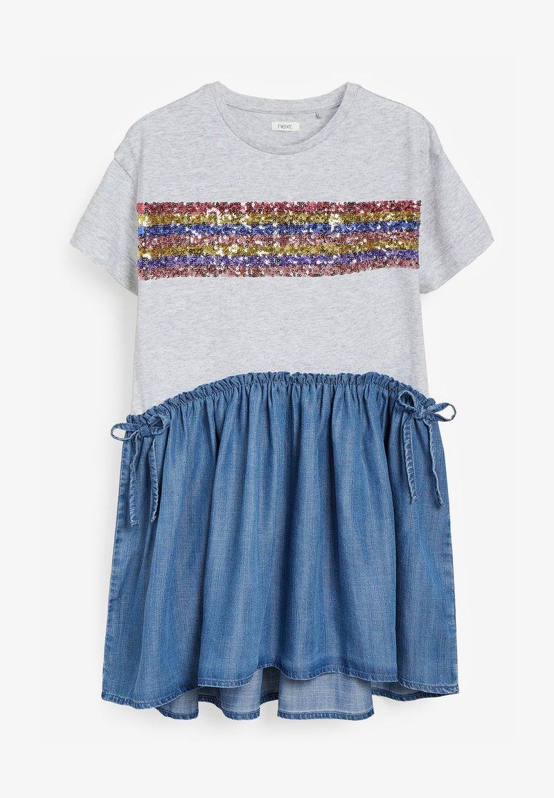 Next - Day dress - blue/grey