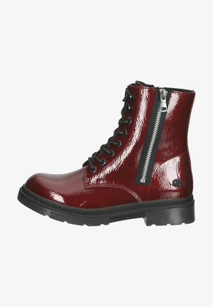 Lace-up ankle boots - dunkelrot