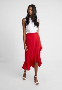 Dorothy Perkins - WRAP MIDI - Wrap skirt - red - 2