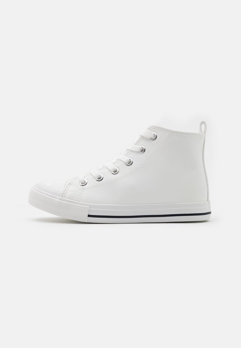 Cotton On - CLASSIC LACE UP UNISEX - Vysoké tenisky - white smooth
