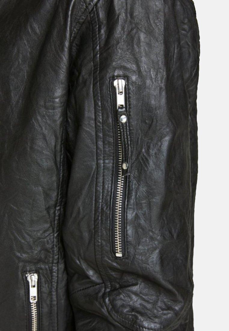 Jack & Jones Veste en cuir - black