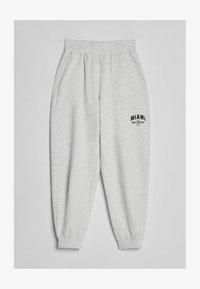 Bershka - MIT PRINT - Teplákové kalhoty - grey - 4