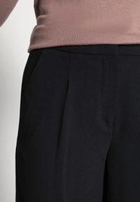 Selected Femme - SLFTINNI WIDE PANT - Kalhoty - black - 4