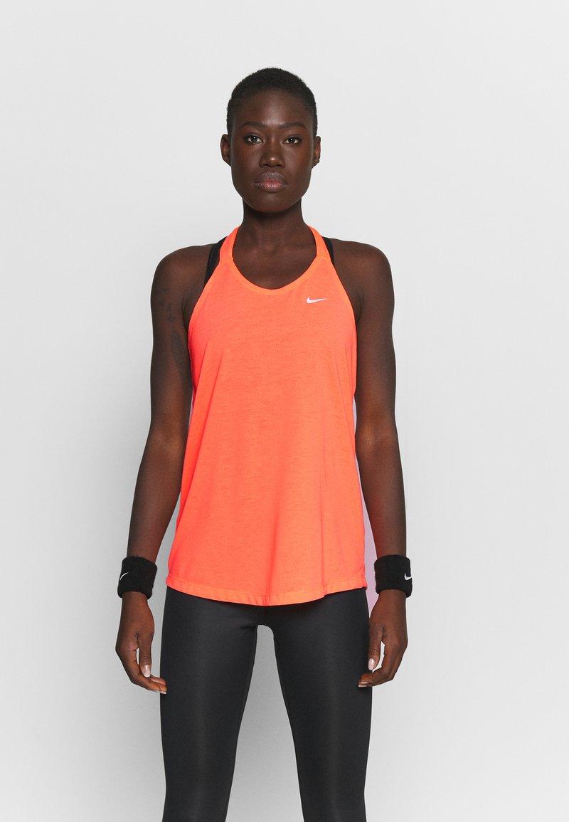 Nike Performance - DRY ELASTIKA TANK - Sportshirt - bright mango/white