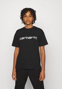 Carhartt WIP - SCRIPT - Camiseta estampada - black/white - 0