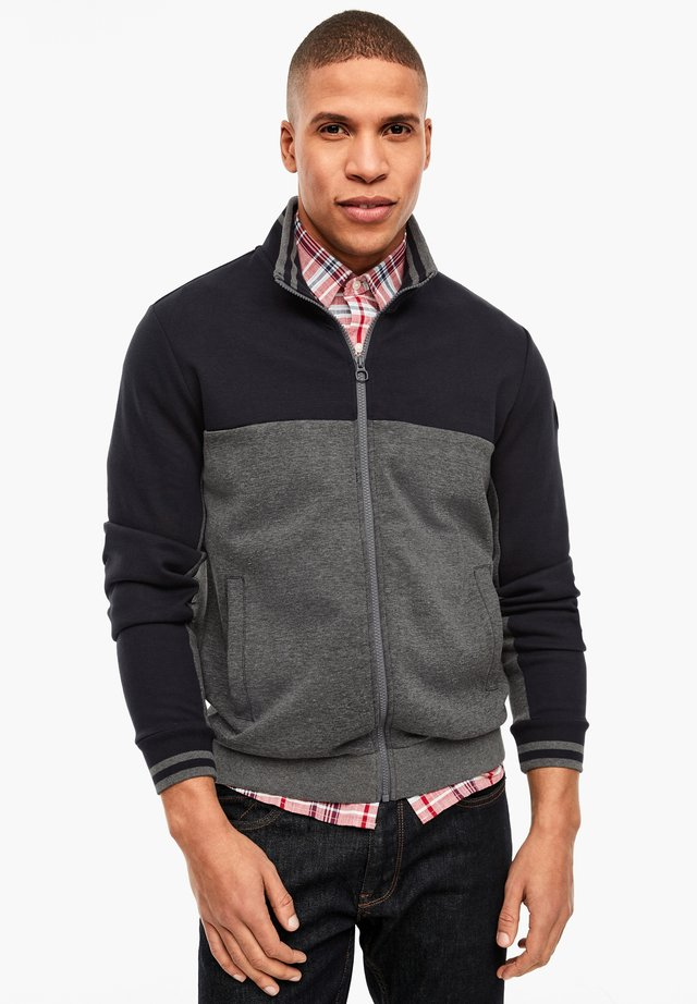 JACKE AUS INTERLOCK-JERSEY - Zip-up hoodie - grey