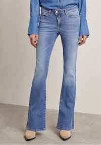 Hunkydory - Bootcut jeans - used light blue - 0