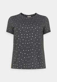 ONLY Carmakoma - CARLINDA TEE - T-shirts med print - dark grey melange - 0