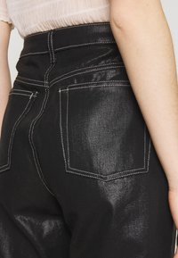 Topshop - COATED RUNWAY - Relaxed fit jeans - black - 5