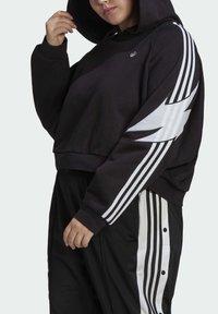 adidas Originals - FAKTEN HOODIE - Hoodie - black - 3
