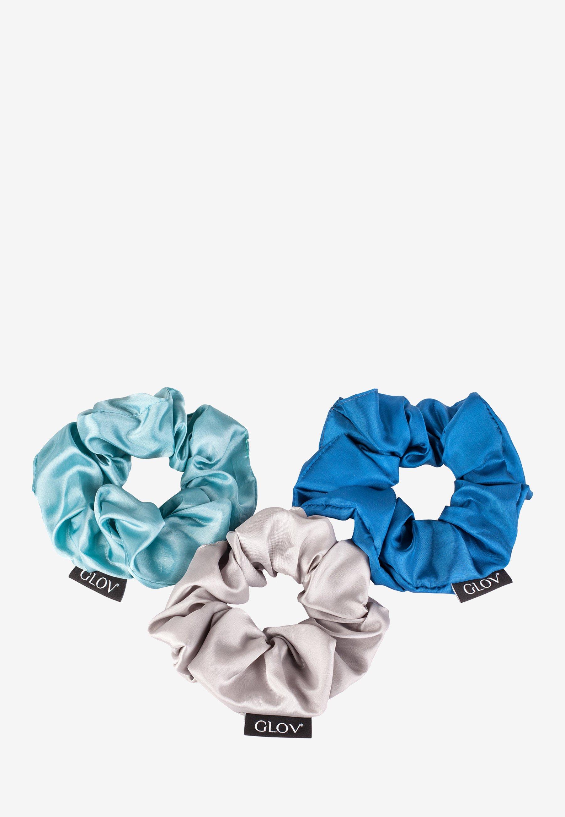 Damen SCRUNCHIES SATIN BLUE SET - Haar-Styling-Accessoires