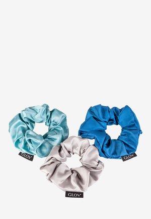 SCRUNCHIES SATIN BLUE SET - Hair styling accessory - blue
