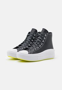 Converse - CHUCK TAYLOR MOVE PLATFORM - High-top trainers - black/lemon/white - 5