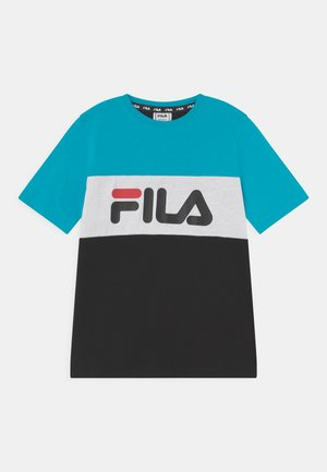 MARINA BLOCKED TEE UNISEX - T-shirt con stampa - black/scuba blue/bright white