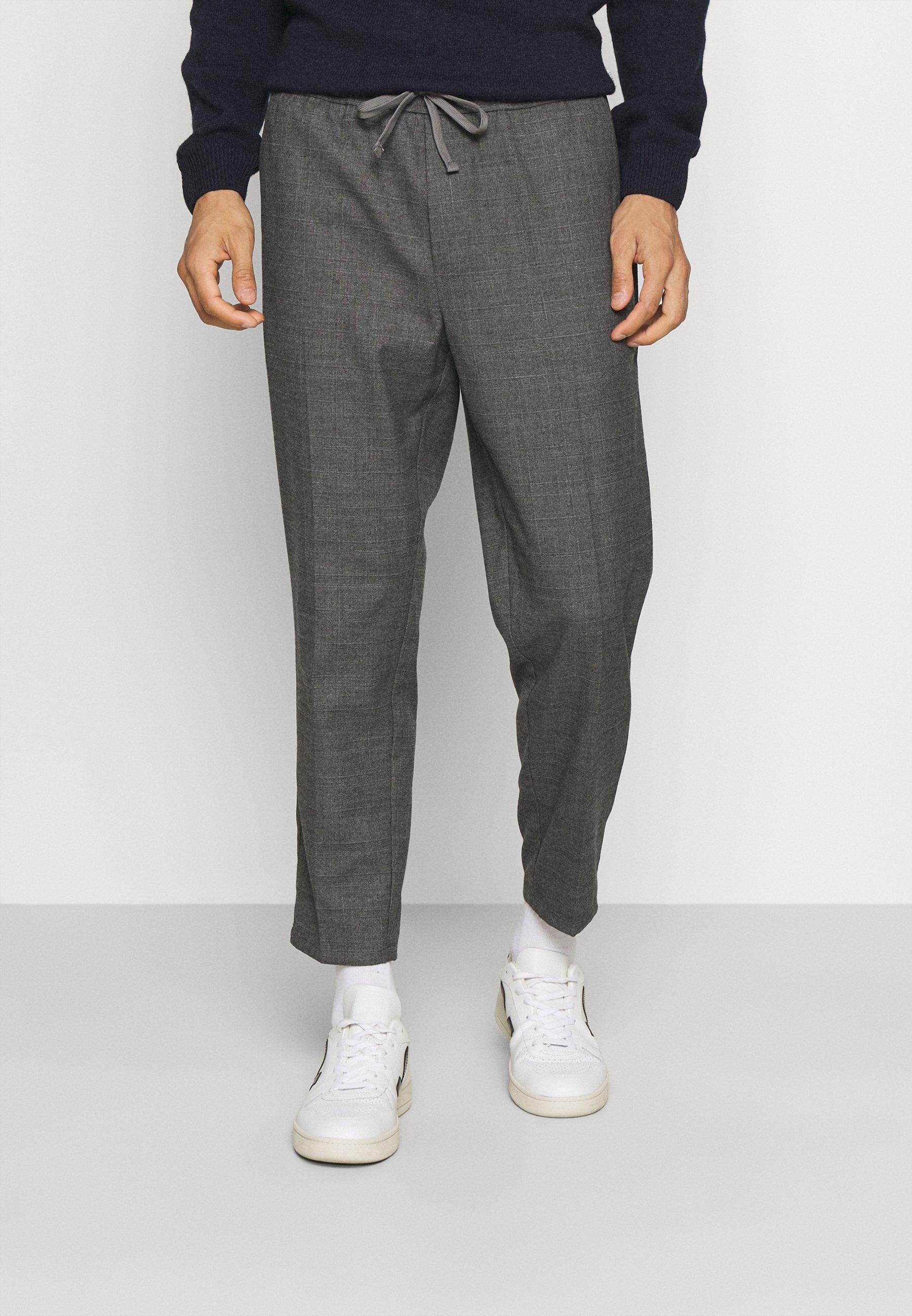 Men PILOU CHECKED PANTS - Trousers